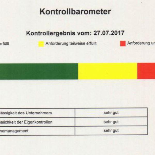 Kontrollbarometer vom 27.07.2017