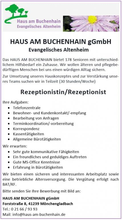 Rezeptionistin / Rezeptionist